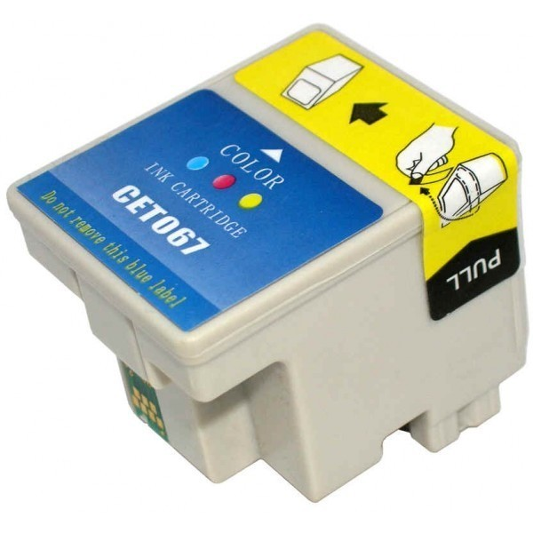 EPSON T067 TRICOLOR REMANUFACTURADO COMPATIBLE