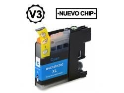 BROTHER LC121XL /LC123XL CYAN REMANUFACTURADO COMPATIBLE